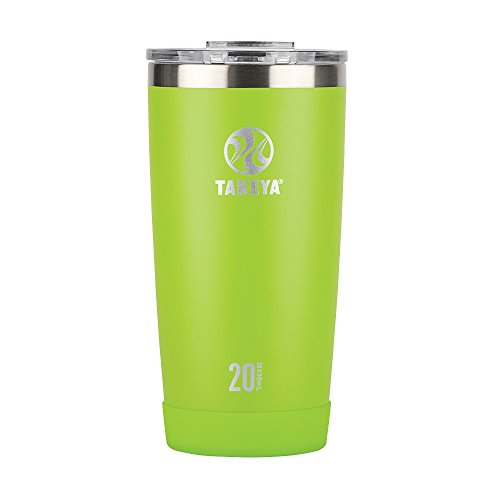 Takeya Actives Insulated Stainless Tumbler with Flip Lid, 20oz, Lime