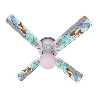 Ceiling Fan Designers Kids Dinosaur Dino Land Indoor Ceiling Fan