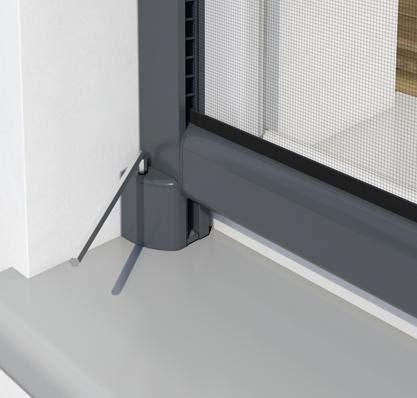 alu-eloxiert//silber pro insect Insektenschutz-Rollo PRO f/ür Fenster 160x160cm