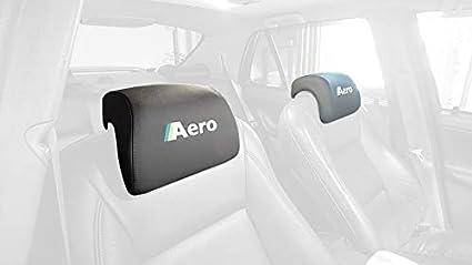 RedlineGoods cubierta de reposacabezas Compatible con Saab 9-5 1997-10. Alcantara Negra