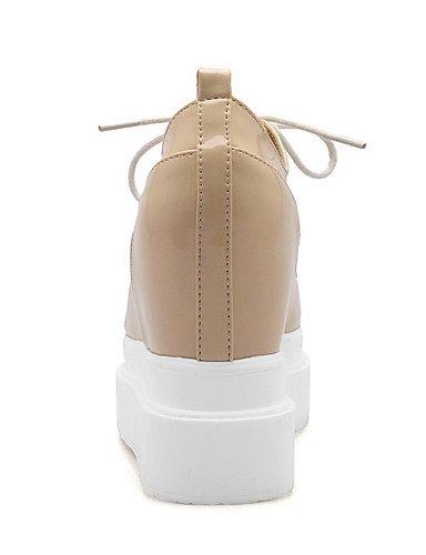 GGX/ Damen-High Heels-Lässig-Kunststoff-Keilabsatz-Creepers-Schwarz / Beige black-us9.5-10 / eu41 / uk7.5-8 / cn42