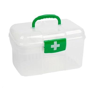 Plastic Health Care Medicine Box Case Holder Clear White