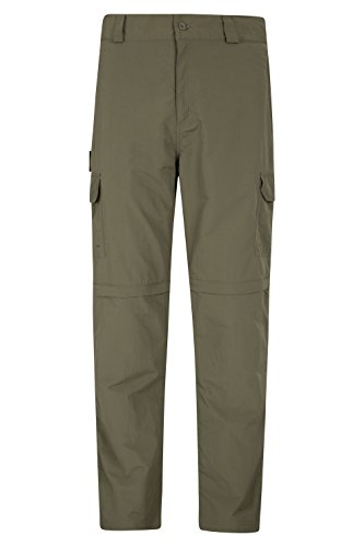 Mountain Warehouse Explore Convertible Mens Trousers - Summer Pants Khaki 38