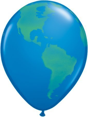Planet Earth/Globe Qualatex 16