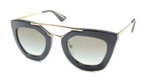 Prada Women's PR 09QS Sunglasses Black / Grey Gradient 49mm & Cleaning Kit - 09qs Prada Sunglasses