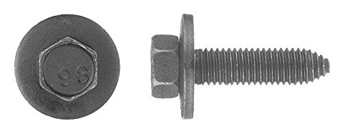 40mm Steel Bolt with Hex Washer Head Type and Black Organic Finish