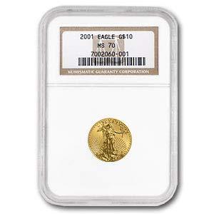 2001 1/4 oz Gold American Eagle MS-70 NGC Gold MS-70 NGC