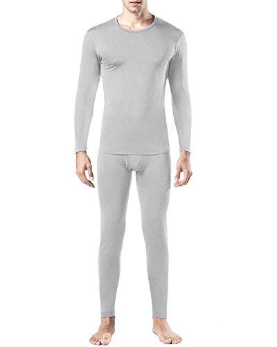 Lapasa Men's Thermal Underwear Set Fleece Lined Long Sleeve Top & Bottom...