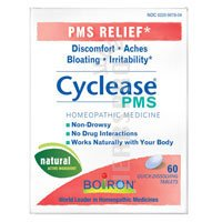 Boiron Homeopathic Medicine Cyclease PMS Tablets for PMS Symptom Relief, 60-Count Boxes (Pack of 3)