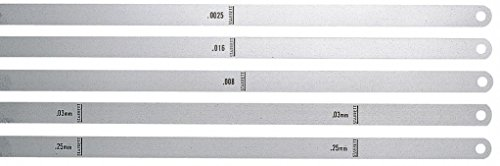 Starrett 667-10 Steel Thickness Feeler Gage, 0.010