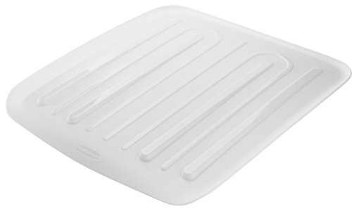 (Rubbermaid Antimicrobial Drain Board, Small, White FG1180ARWHT)