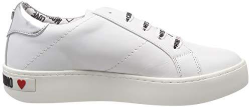 De bianco Moschino Multicolore 10a argento Gymnastique Chaussures Love Scarpad Femme cassetta35 6Ixw468qd