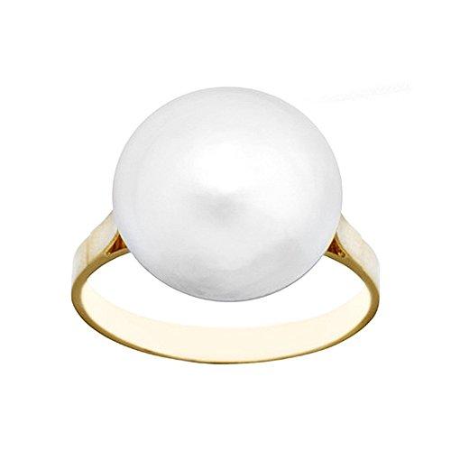 Bague Japonaise perle 18k 14mm d'or. [AA7085]