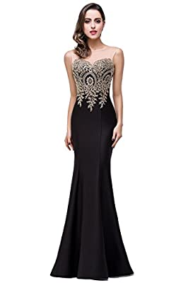 MisShow Mermaid Prom Dress for Women Formal Long Evening Dress