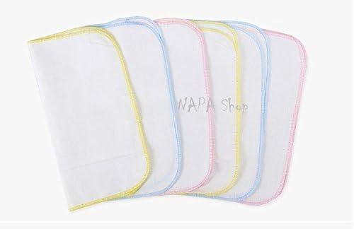 10 pcs Fiber Towel Newborn Square Towels Colorful Bathroom Clean Washcloth 6A