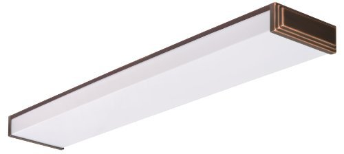 Lithonia Lighting 10648RE BZ Fluorescent Linear Decorative Wraparound Light for Kitchen | Attic | Basement | Home, Bronze - Decorative Fluorescent Light