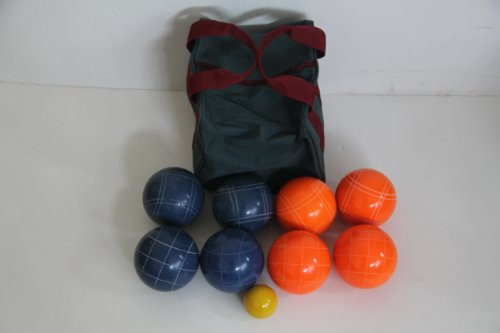 Premium Quality EPCO Tournament Set - 110mm Blue and Orange Bocce Balls [Toy] by Epco