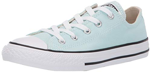 Converse Girls Kids' Chuck Taylor All Star 2019 Seasonal Low Top Sneaker, Teal Tint/Natural Ivory/White, 2 M US -