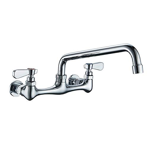 BWE NSF No Lead Faucet Commercial Sink Wall Mount Faucet 8