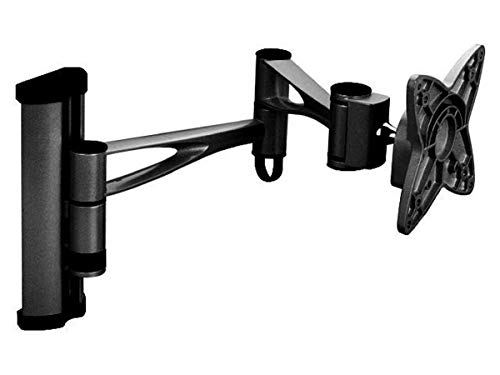 Monoprice 3 Way Adjustable Tilting Wall Mount Bracket for LCD LED (Max 33Lbs, 10~25inch) - Black (No Logo) (Wishbone Panel Flat)