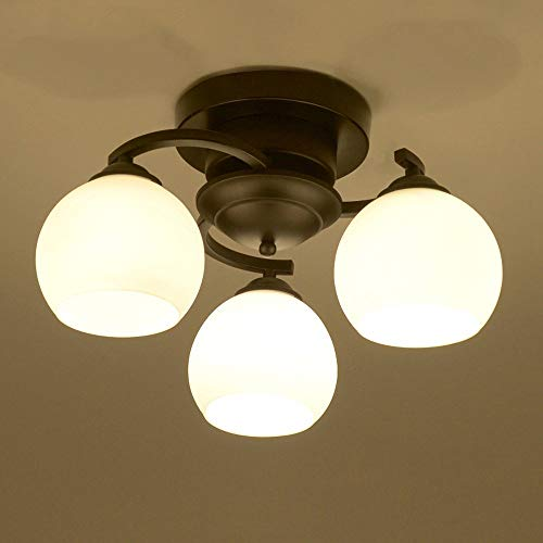TheMonday Contemporary Metal Iron Ceiling Light E27 Led Ceiling Spotlights with Spherical Glass Lampshade Ceiling Hanging Lamp for Bedroom Dinning Living Room Restaurant Hall (Size : 8 - Ceiling Contemporary Spotlight