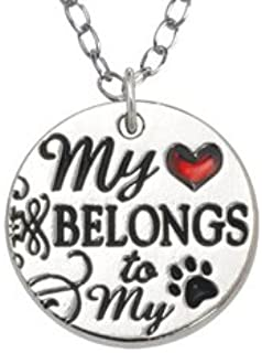 product image for Rockin Doggie My Heart Belongs to My Dog - Custom Engraved Necklace