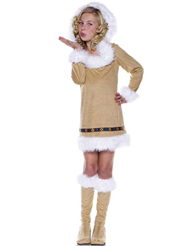 Underwraps Eskimo Kisses Girls Winter Indian Halloween Costume-XL X Large]()