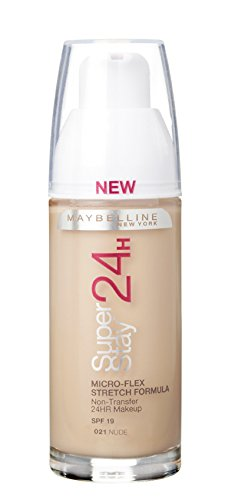 Maybelline Superstay 24HRS 21 Nude Beige Frasco dispensador - base de maquillaje (Nude Beige,