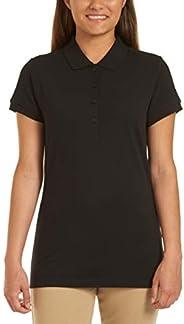 Nautica Womens Uniform Short Sleeve Pique Polo Polo Shirt
