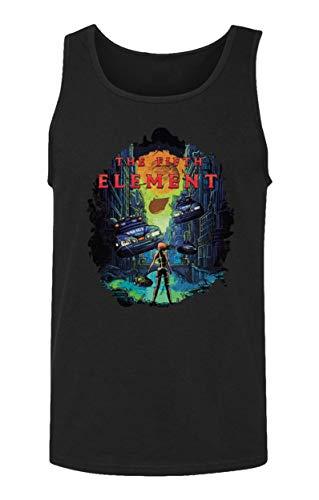 RIVEBELLA New Graphic Shirt Vintage Novelty Tee Element Men's Tank Top (Black, L) -