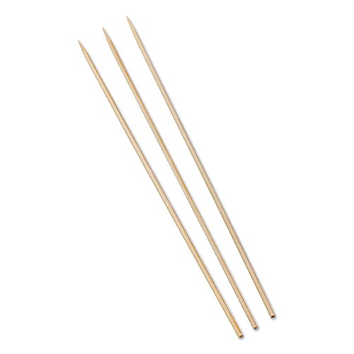 Royal Paper Bamboo Skewers, 10'', 100/Pack, 10 Packs/Box, 12 Boxes/Carton by Royal Paper