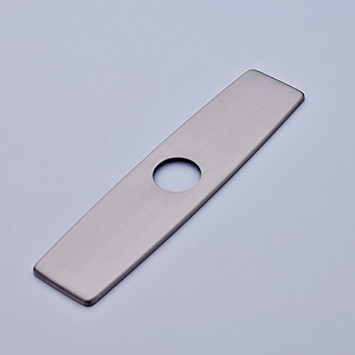 Fapully 10.23'' Kitchen Sink Faucet Hole Cover Deck Plate Escutcheon Brushed Nickel