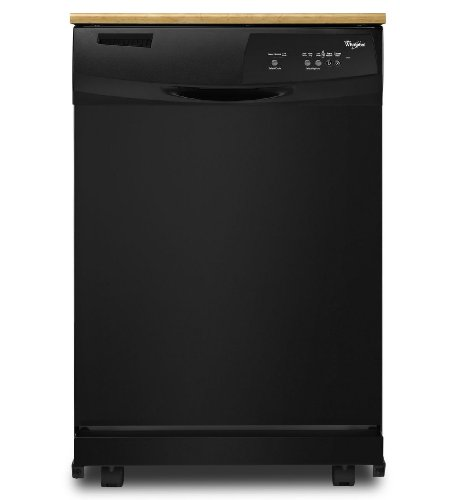 Whirlpool-WDP350PAAB-24-Black-Portable-Full-Console-Dishwasher-Energy-Star