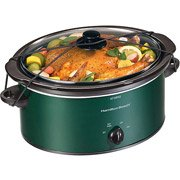 Portable Slow Cooker Green 5 Quart by Hamilton Beach Brands, Inc.