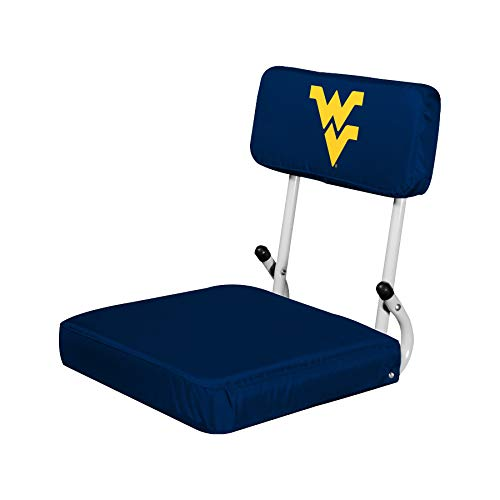 Logo Brands NCAA West Virginia Mountaineers Hard Back Stadium Seat