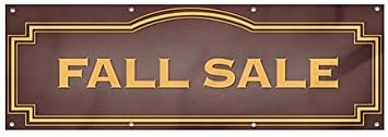 12x4 CGSignLab Classic Brown Heavy-Duty Outdoor Vinyl Banner Fall Sale