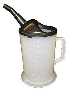 WirthCo 94046 Funnel king Heavy Duty Graduated Measuring Container with Spout - 4.5 Quart ()