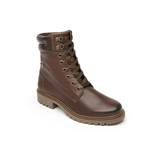 Flexi ALDARA Country Women's Genuine Cowhide Leather Combat Boot | 37808 (6) (Lined Boots Leather Combat)