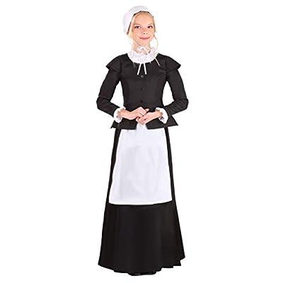 Girl's Thankful Pilgrim Costume: Clothing
