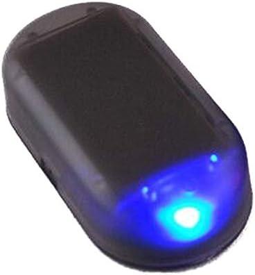 Schimer Usb Solar Auto Alarmanlage Dummy Imitation Diebstahlsicherung Attrappe Solar Power Simulierte Auto Warnung Led Licht Anti Diebstahl Warnleuchten Flashing Sicherheit Lampe Auto