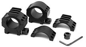 """TMS Heavy Duty Tactical Scope Rings 30MM 1"""" Picatinny LOW HT"""