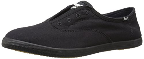 Keds Women's Chillax Washed Laceless Slip-On Sneaker Black/Black