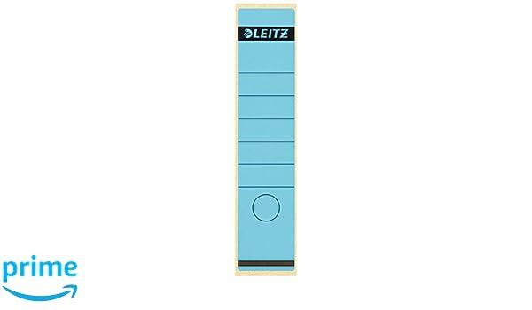 Leitz 16401035 - Etiquetas adhesivas para lomo de archivadores (100 unidades), color azul: Amazon.es: Oficina y papelería