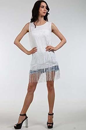 Aims E Fashion Anti-Flash White Round Neck Maxi Tops For Women