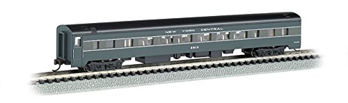 Bachmann Industries Smooth Side Coach New York Central N-Scale Passenger Car, 85'