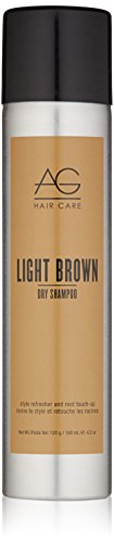 AG Hair Dry Shampoo Light Brown Style Refresher And Root Touch-Up, 4.2 Oz