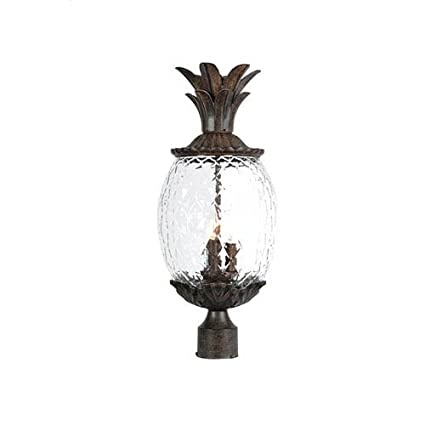Outdoor Pineapple Light Amazon acclaim 7517bc lanai collection 3 light post mount acclaim 7517bc lanai collection 3 light post mount outdoor light fixture black coral workwithnaturefo