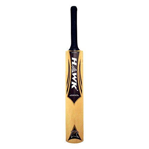 AMBER Hawk Select English Willow Cricket Bat Full Size With Cover (Short Handle) by AMBER