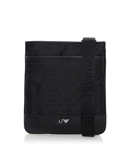 Armani Jeans Uomo Logo Messenger Bag Nero  480d1b500d9