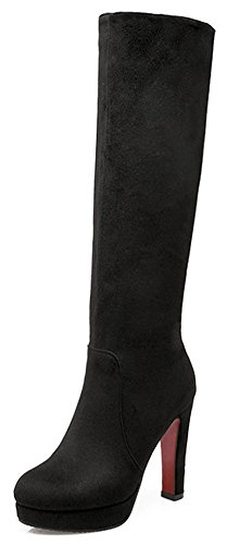 Black Leather Biker Boots Womens - 9